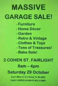 MASSIVE GARAGE SALE- TONS OF VARIETY AND SELECTION!! Fairlight Manly Area Preview