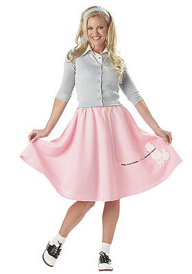 Poodle Skirt (Pink) for Women (all sizes) New by Cal. Costume - Costumes For All