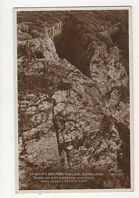 St Kevins Bed From Lake Glendalough Ireland RP Postcard 301a