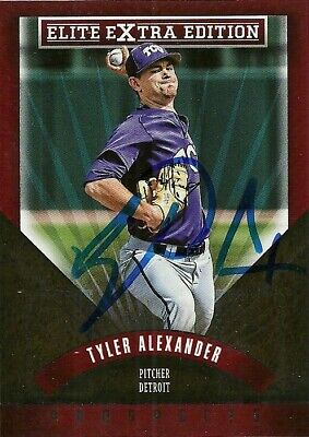 Tyler Frog (2015 Panini Elite TYLER ALEXANDER Signed Card AUTOGRAPH TIGERS TCU HORNED FROGS )