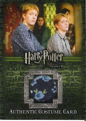 HARRY POTTER ORDER OF PHOENIX PHELPS AS GEORGE WEASLEY C4 COSTUME CARD 199/260