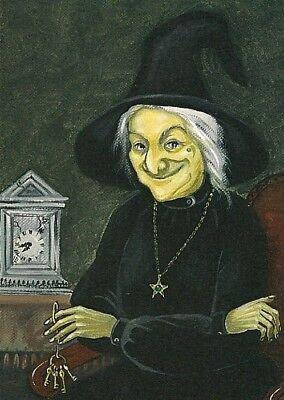 5x7 HALLOWEEN WITCH CLOCK PRINT OF PAINTING FOLK RYTA VINTAGE STYLE PORTRAIT ART](Vintage Halloween Portraits)