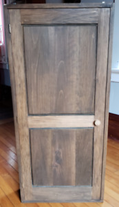 LARGE OVER SIZED RUSTIC WOOD STORAGE CABINET