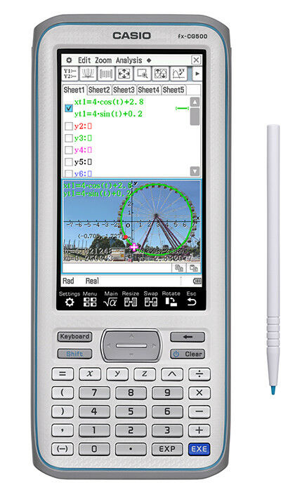 FX-CG500 PRIZM CAS CASIO COLOR GRAPHING CALCULATOR NEW FROM