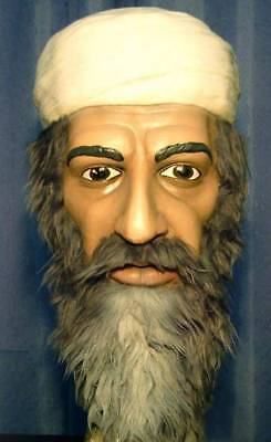 BIN LADEN LATEX MASK -- Costume Prop Osama Cosplay Bust Halloween -- NOT CHINA !