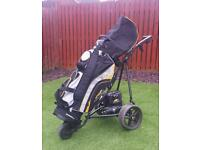 Electric golf trolley and bag