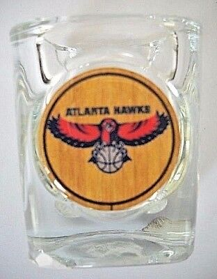 ATLANTA HAWKS 2.5 INCHES TALL BY 2 INCHES WIDE COLLECTIBLE SQUARE SHOT GLASS