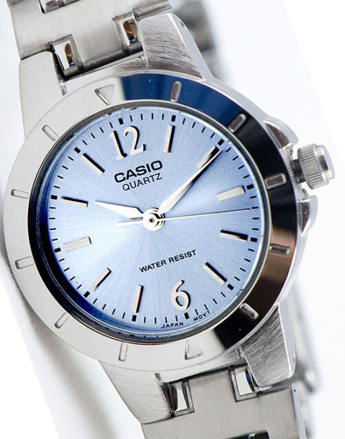 Casio LTP-1177A-2AD Ladies Blue Watch Stainless Steel Band Dress Date New
