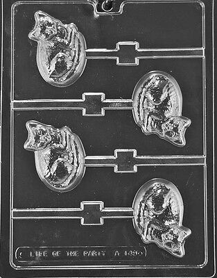 CAT LOLLY Animal Sucker Chocolate Candy Mold LOP-A149