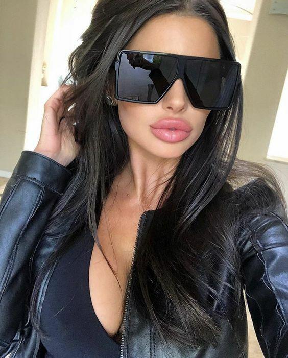 "XXL OVERSIZED ""BETTY"" Lauren Women Sunglasses Aviator Flat T"
