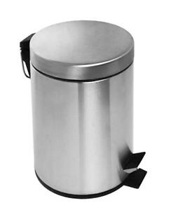 Round Stainless Steel Step Trash Can 3 Liter