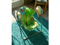 Rainforest baby swing - Battery operated. Boxed in very good condition