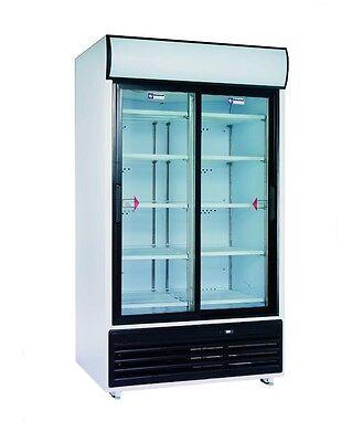 Getränkekühlschrank Flaschenkühlschrank 835L mit Doppelschiebetüren Gastlando - Kühlschrank Mit 2 Schiebetüren