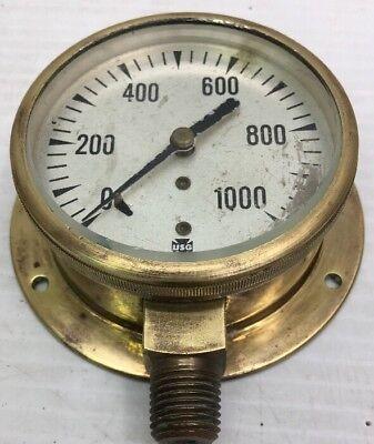 Unique 1930 Vintage Brass Us Gauge Ny Steampunk Pressure Gauge
