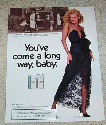 1989 print ad - Virginia Slims Cigarettes - Mrs Hubbard-SEXY GIRL vintage ADVERT