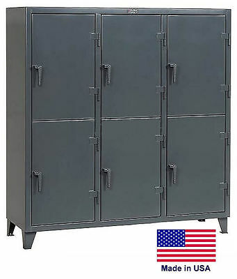 Personnel - Personal Locker Coml Industrial - 6 Lockers - 78 H X 24 D X 74 W