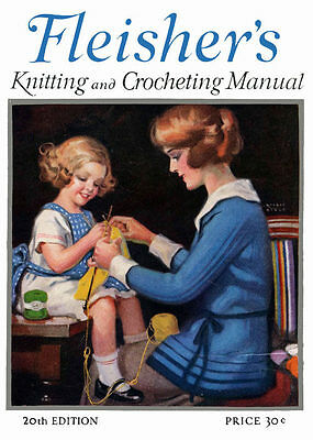 Винтажные Fleisher's Knitting & Crochet Manual