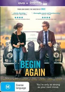 Begin Again (DVD, 2014) New ExRetail Stock, Genuine & unSealed  - Free Post D51