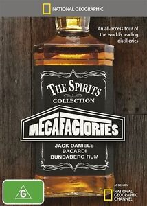 National Geographic - Megafactories - The Spirits Collection (DVD, 2015) NEW