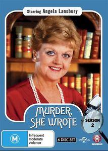 Murder, She Wrote : Season 2 (DVD, 2015, 6-Disc Set)-FREE POSTAGE