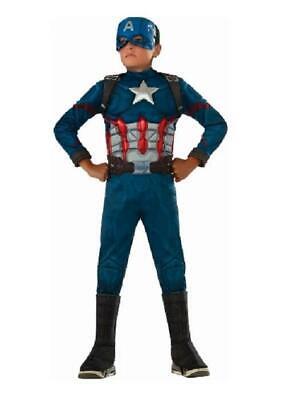 Duluxe Muscle CAPTAIN AMERICA ~ Halloween Costume ~ Child M Medium (8-10) ~ NEW (Captain America Halloween Costume)