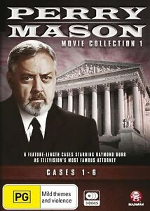 Perry Mason: Movie Collection 1: Cases 1-6 DVD R4 New Sealed