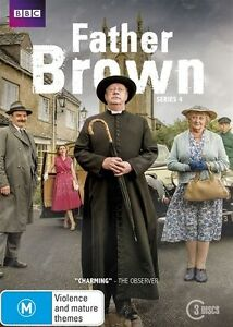 Father Brown: Series Season 4 (DVD, 2016, 3-Disc Set), NEW SEALED REGION 4