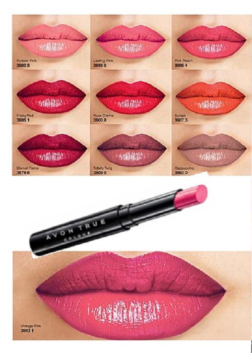 AVON TRUE COLOUR BEAUTY langanhaltender Lippenstift  Farbwahl  Neu