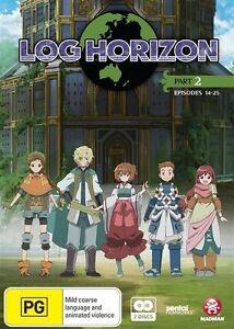 Log Horizon: Part 2: Eps 14-25 (2 x DVD set , 2015, REGION 4 ) New & sealed,
