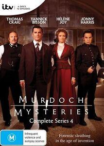 Murdoch-Mysteries-Series-Season-4-DVD-2016-4-Disc-Set-NEW-REGION-4