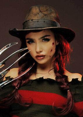 Womens Freddy Krueger Style Brown Fedora Hat (Freddy Krueger Fedora)