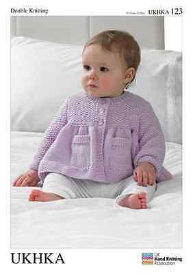 ukhka 123 bambino Cardigan & COPERTA SCHEMI Modelli per lavori a maglia neonato, usato usato  Spedire a Italy