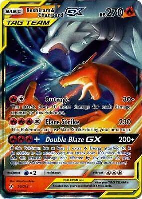 Reshiram & Charizard GX - 20/214 - Ultra Rare NM Sun & Moon Unbroken Bonds 3Q6