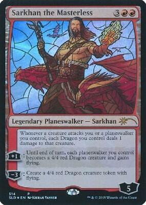 Sarkhan the Masterless - SLD Stained Glass Foil Promo Near Mint MTG Secret RXZ for sale  Shipping to India