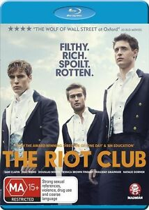 THE RIOT CLUB...BLU RAY...NEW & SEALED