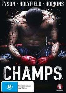 Champs (DVD, 2015) Tyson - Holyfield - Hopkins Boxing Doco - New Sealed R4  D31