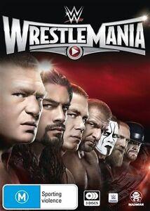 WWE - Wrestle Mania XXXI (DVD, 2016, 3-Disc Set) Brand New Sealed D235