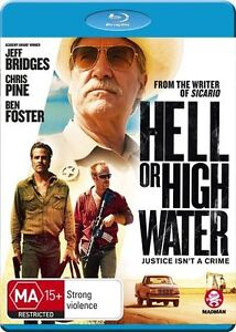 *New & Sealed* Hell Or High Water (Blu-ray Movie, 2017) Region B Australia