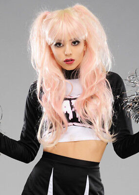 Wombie Deluxe Pink and Blonde Zombie Cheerleader Wig