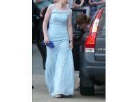 Unusual baby blue 'mermaid' prom/party/wedding/evening dress