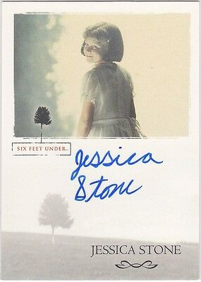 SIX FEET UNDER SEASONS 1 AND 2 JESSICA STONE AS YOUNG BRENDA AUTOGRAPH CARD