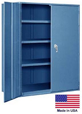 Storage Cabinet Commercialindl - 12 Gauge Steel - 3 Shelf - Blue - 72x36x19 P