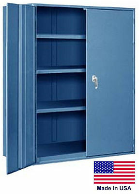 Storage Cabinet Commercialindl - 12 Gauge Steel - 3 Shelf - Blue - 60x36x24 P