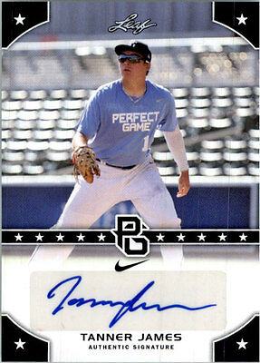 TANNER JAMES 2015 Leaf *PERFECT GAME*  Baseball Certified