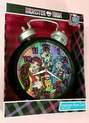 MONSTER HIGH GROWLICIOUS JUMBO TWIN BELL ALARM CLOCK Girls Bedroom Table Sleep