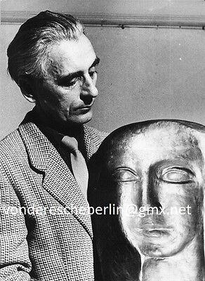 Werner ECKELT: VINTAGE Hermann GROSS  NEW YORK mit BronzePlastik: ZWEI GESICHTER