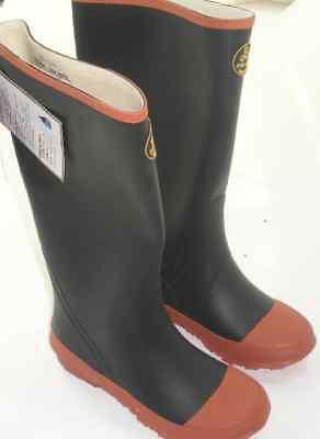 Proline 121Y-1 Boys Black Rubber Knee Boots Size 1 15930