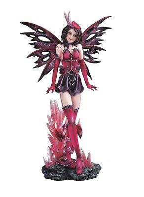 "12"" Inch Red Fairy with Baby Dragon Statue Figurine Figure Magic Fantasy"