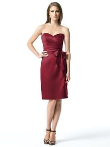Red Strapless Party Dress - Like New!