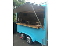 Trailer 12 ft x 6 ft, empty consession trailer, 10 ft serving hatch,
